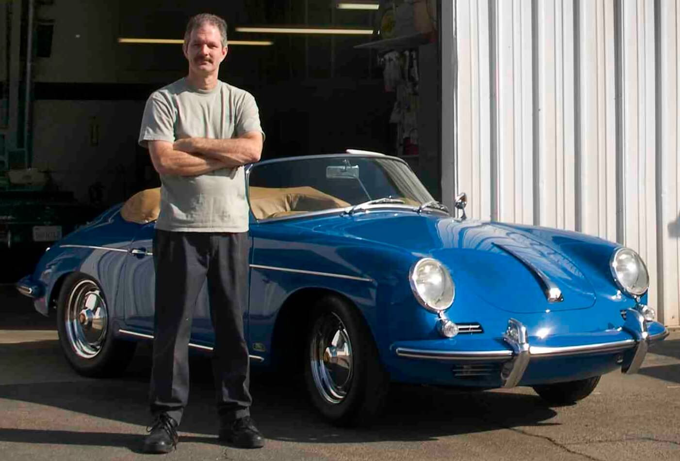 Stitch with a 62 Porsche 356 Roadster